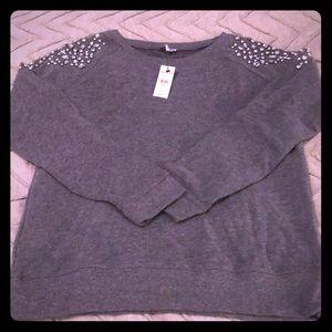 Express gem detail sweatshirt. Brand new